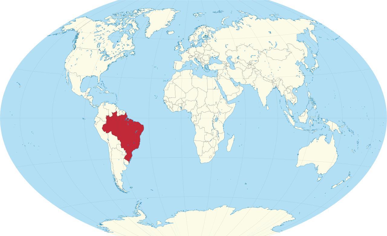 Brasilien Karte Welt.Brasilien Auf Der Karte Welt Karte Der Welt Brasilien South