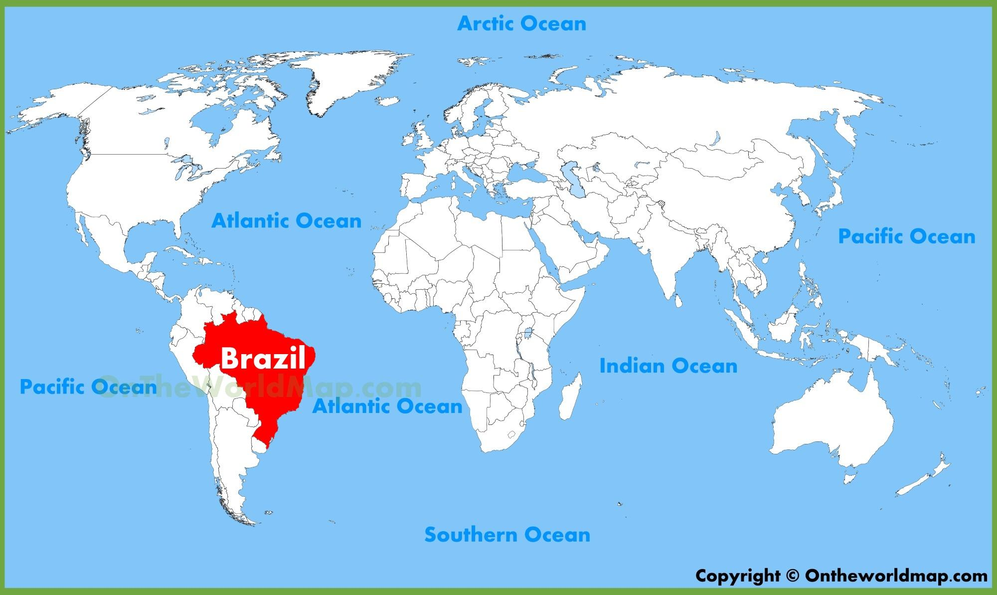 Brasilien Karte Welt.Weltkarte Brasilien Karte Von Welt Brasilien South America
