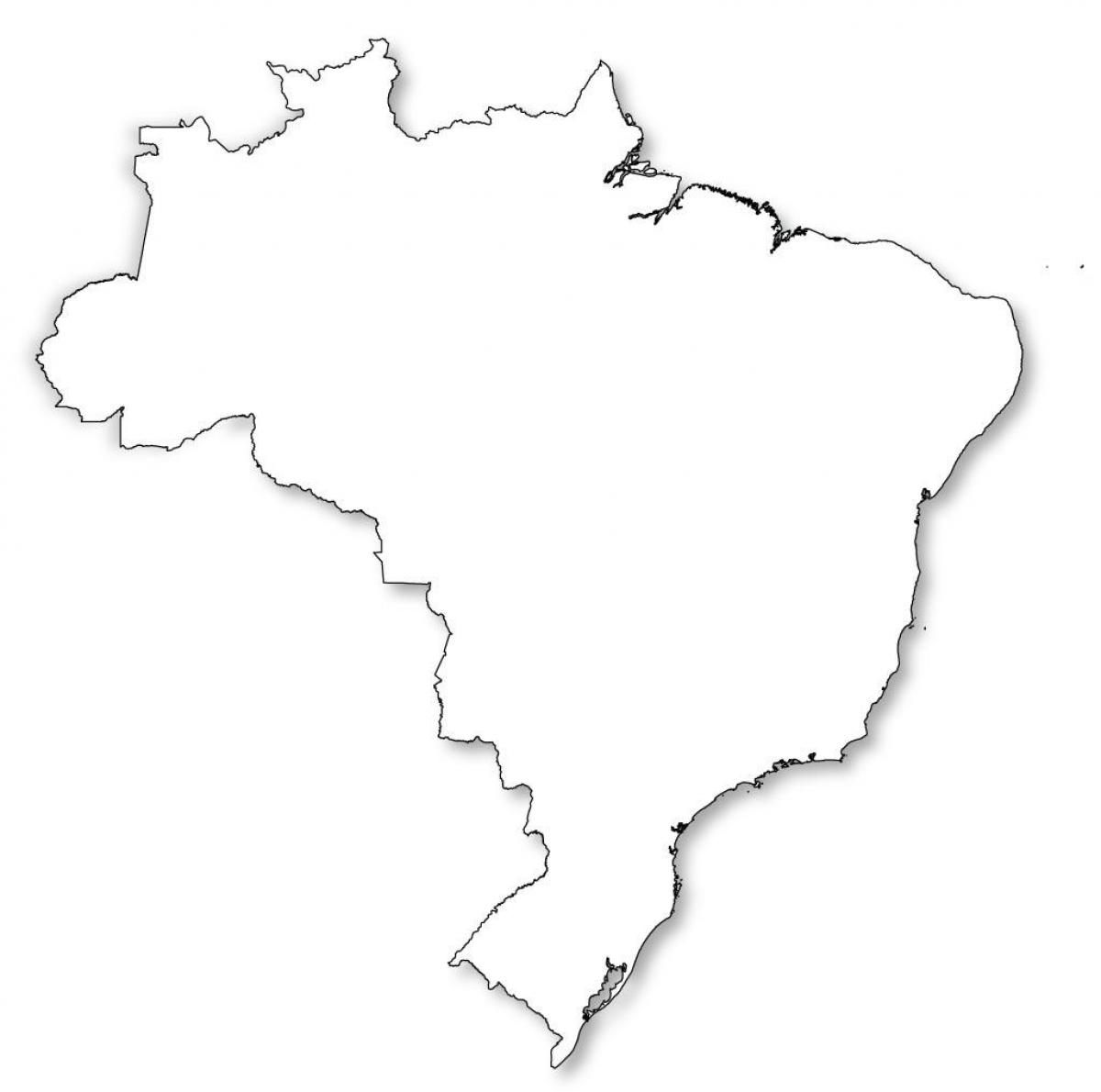 Peru Karte Umriss.Karte Von Brasilien Umriss Landkarte Von Brasilien