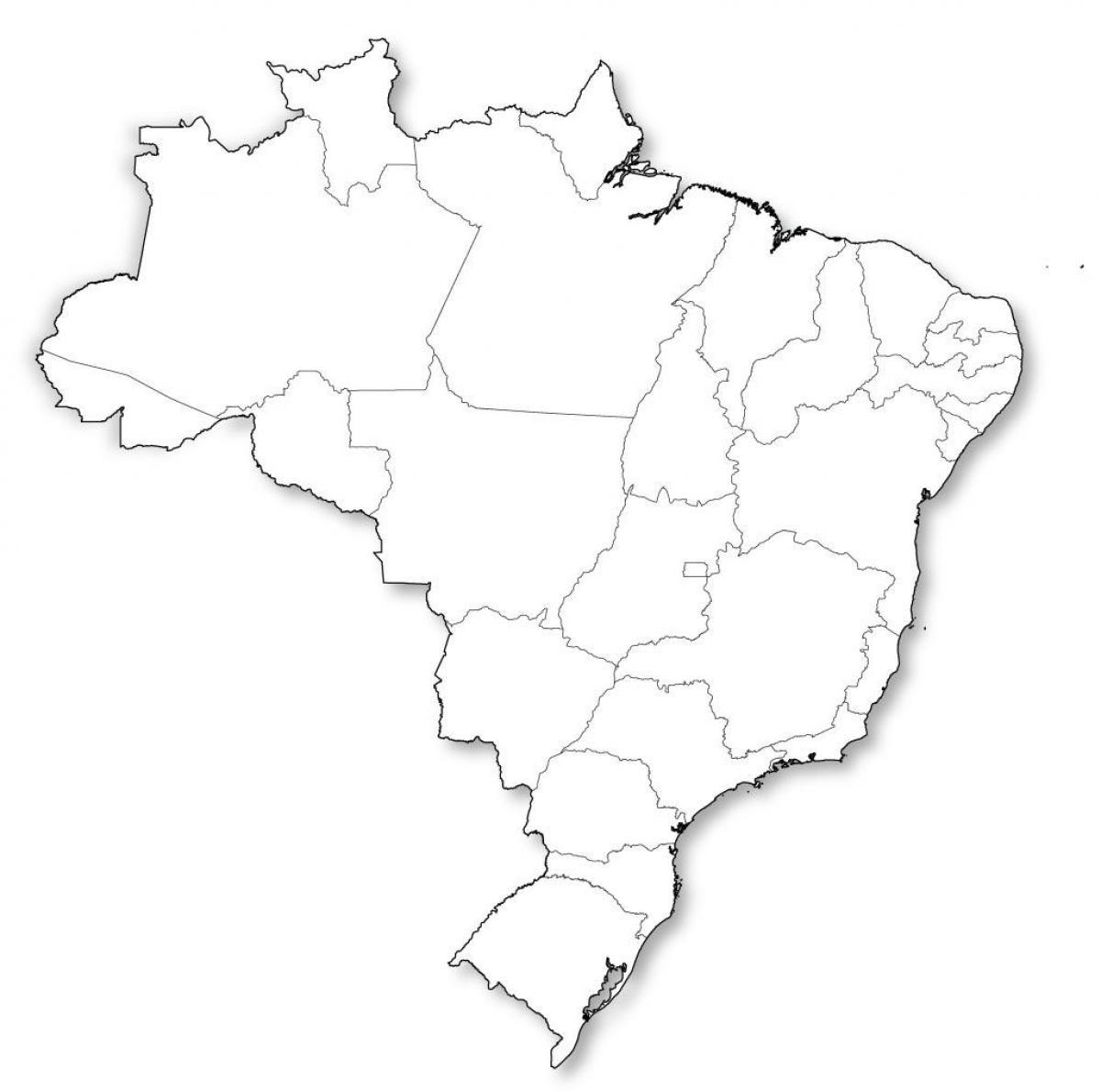 Leere Landkarte Brasilien Brasilien Landkarte Leer South America