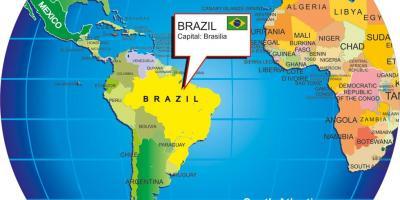 Brasilien Karte Welt.Brasilien Auf Der Weltkarte Karte Von Brasilien Welt Süd Amerika
